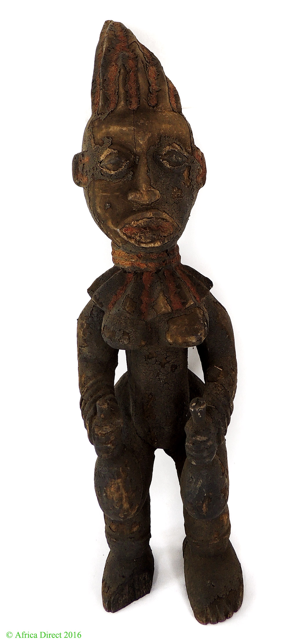 Bangwa queen memorial statue cameroon africa inch