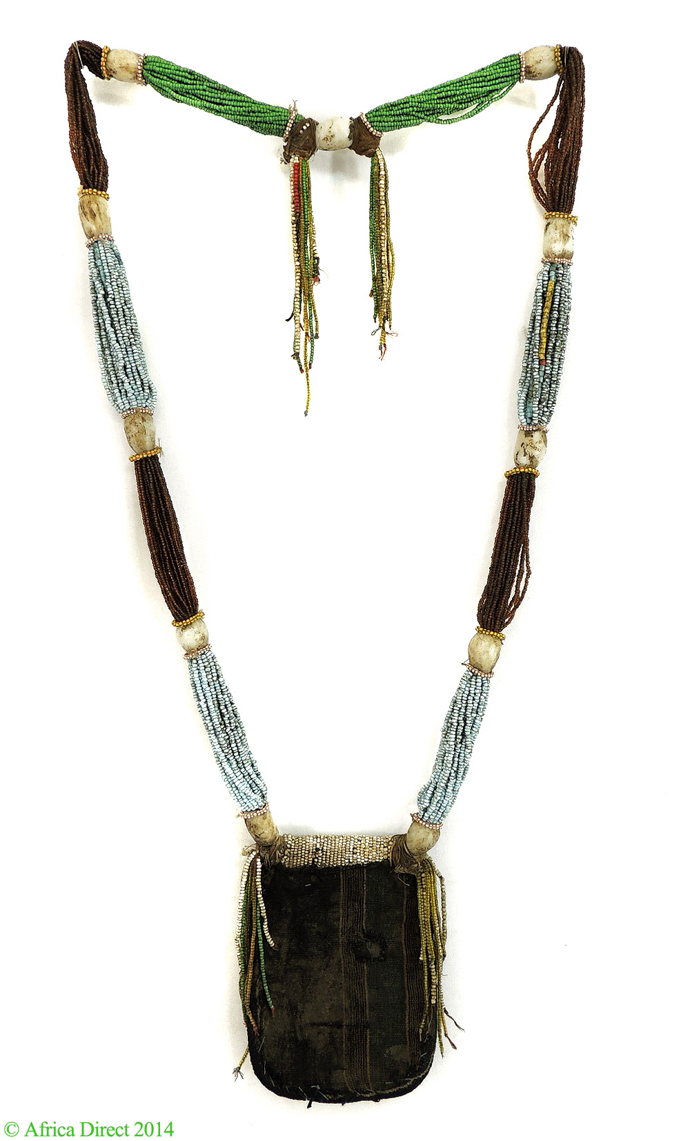 Yoruba Beaded Necklace Odigba Ifa Nigeria African Art - Beadwork ...