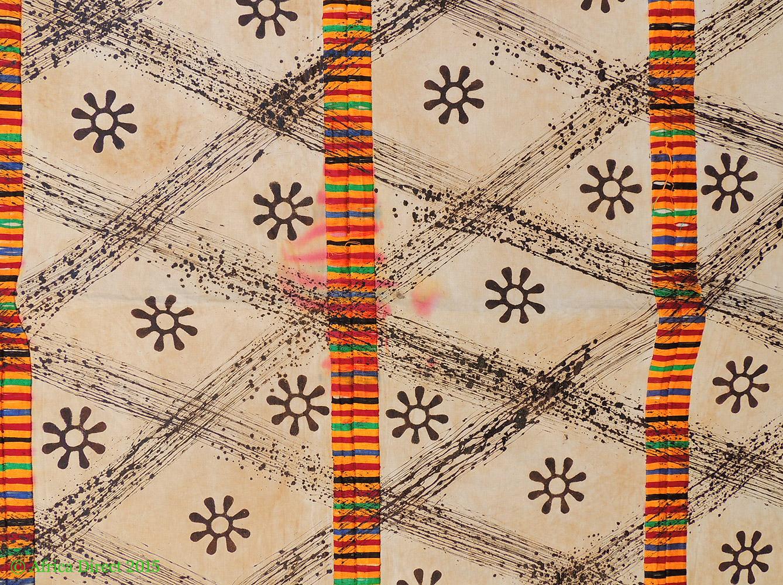 adinkra stamped cloth asante ghana 11 x 6 feet african art african