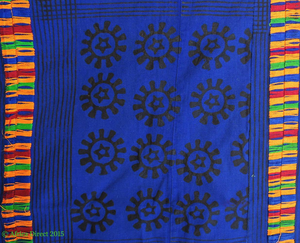 adinkra stamped cloth asante ghana 10 x 6 feet african art african