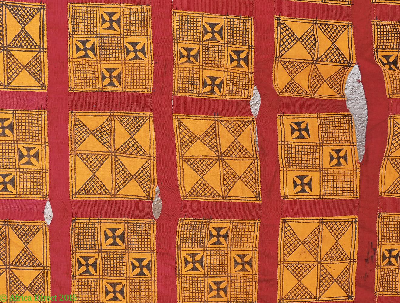 adinkra stamped cloth asante ghana large africa 10 x 6 feet