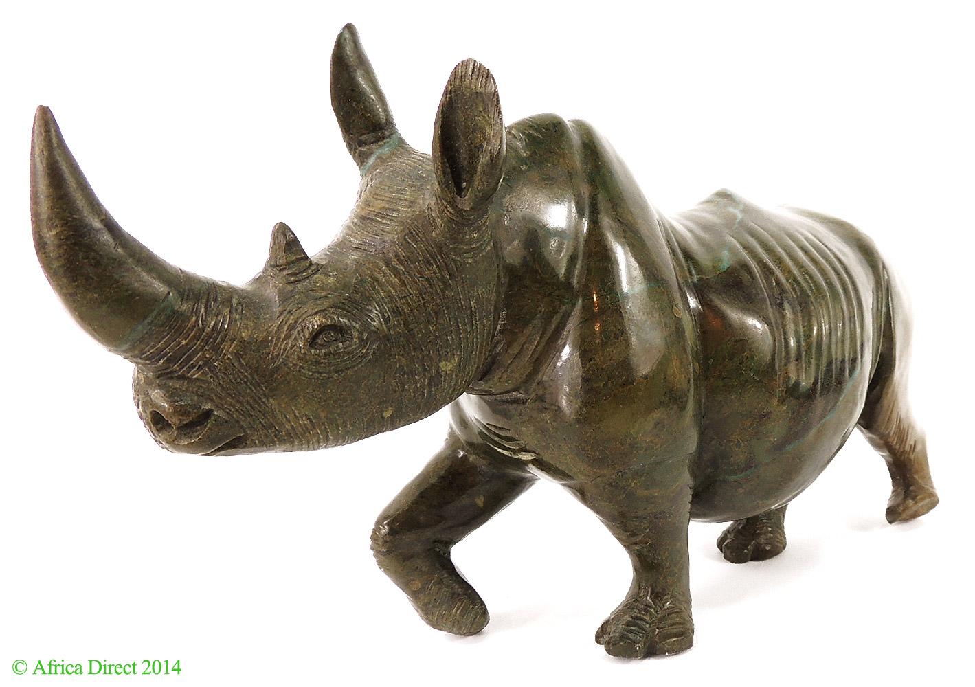 Rhino verdite shona stone sculpture zimbabwe africa