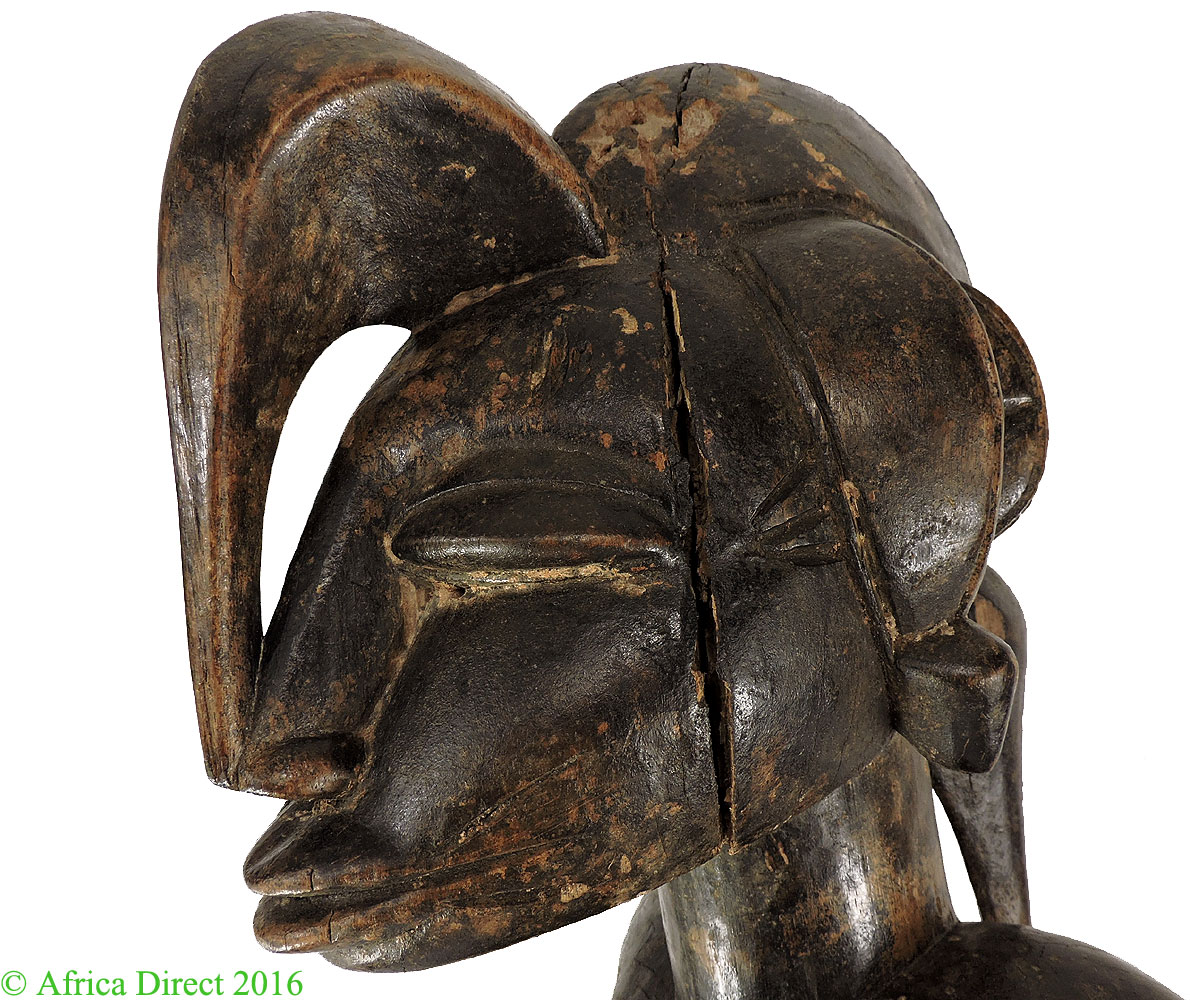 Senufo maternity janus face ivory coast inch african