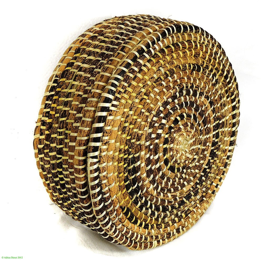 African Baskets With Lids: Ethiopian Banana Leaf Basket With Lid African