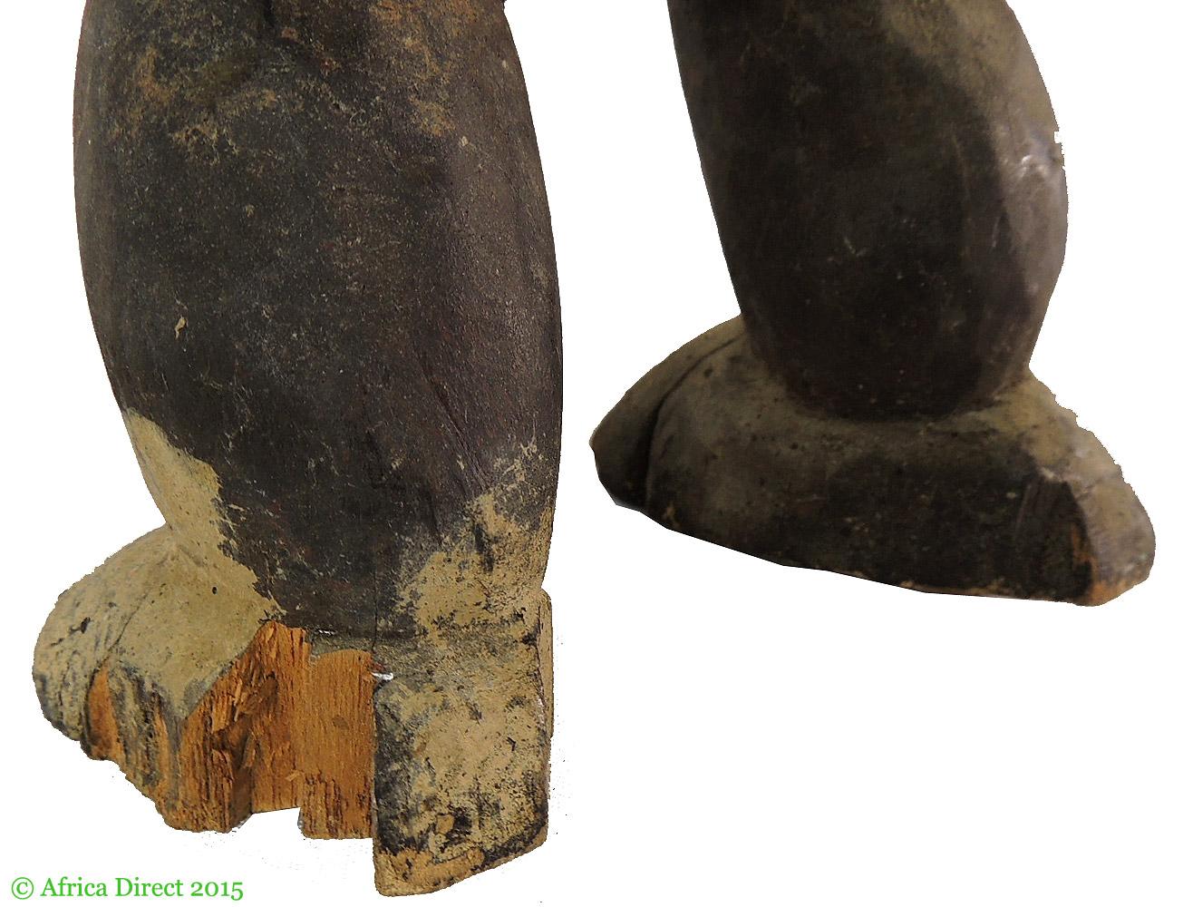 Jukun koro figural container four faces nigeria inch
