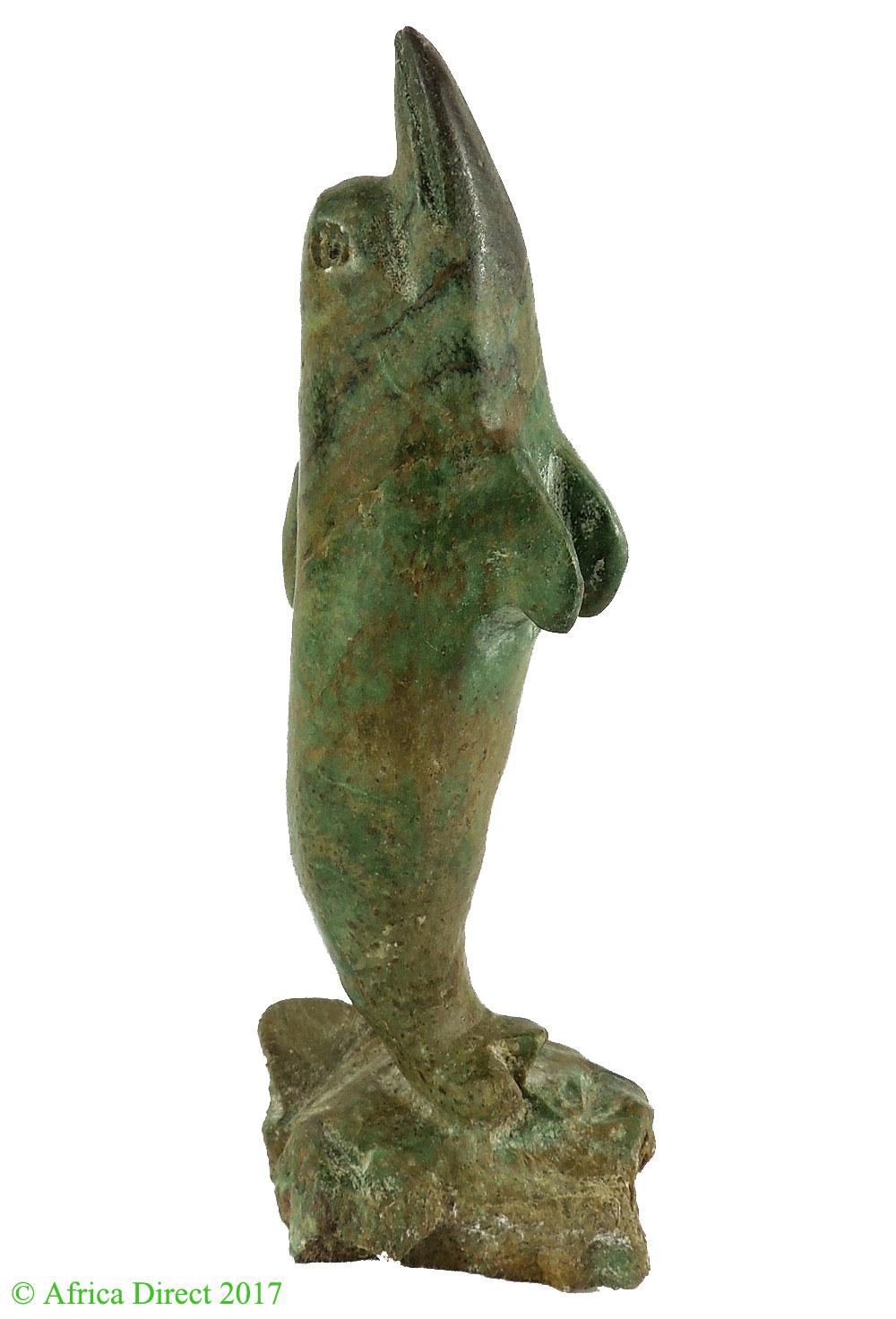 Verdite shona stone sculpture dolphin zimbabwe african