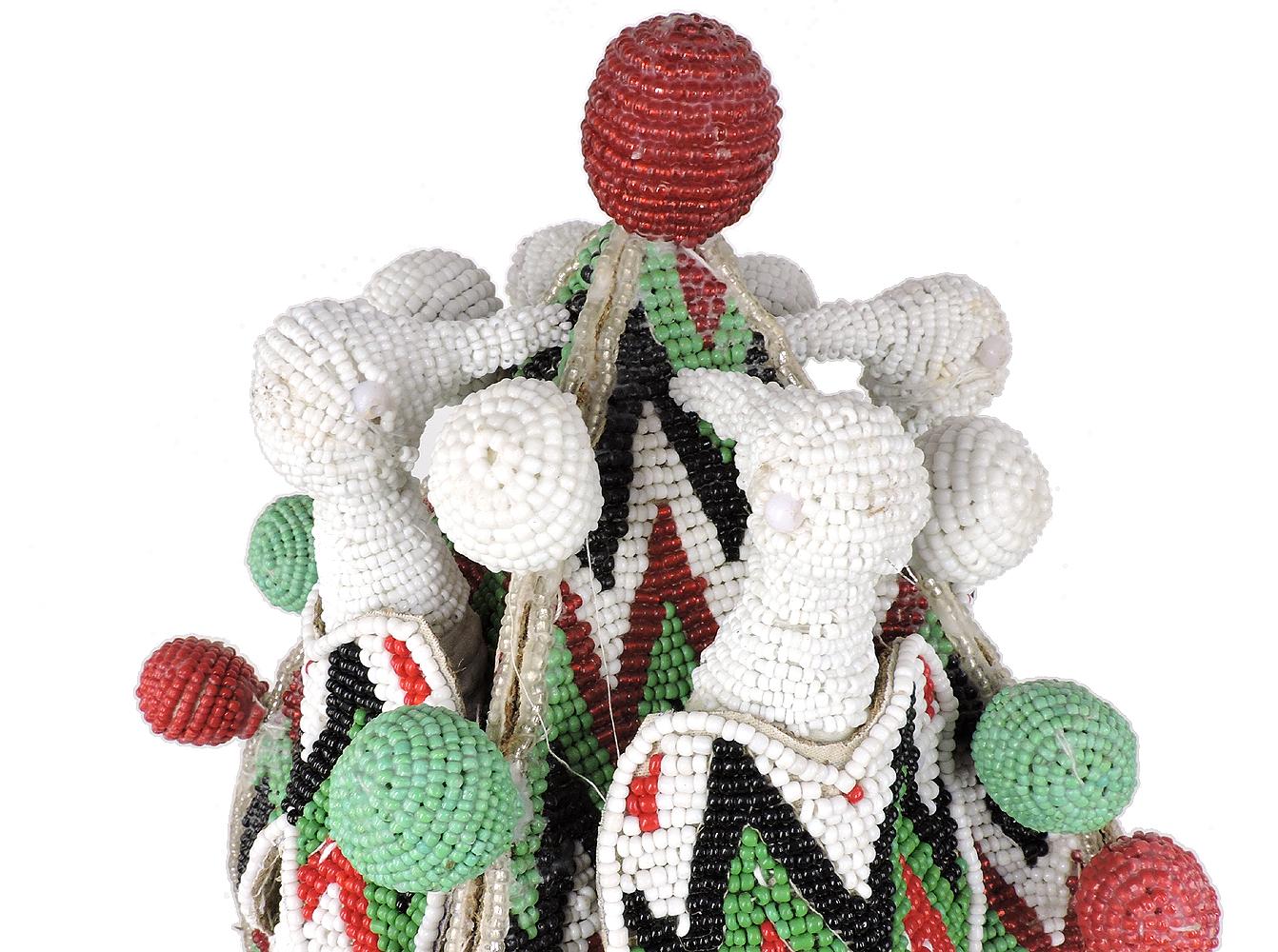 Yoruba Beaded Crown Nigeria African Art