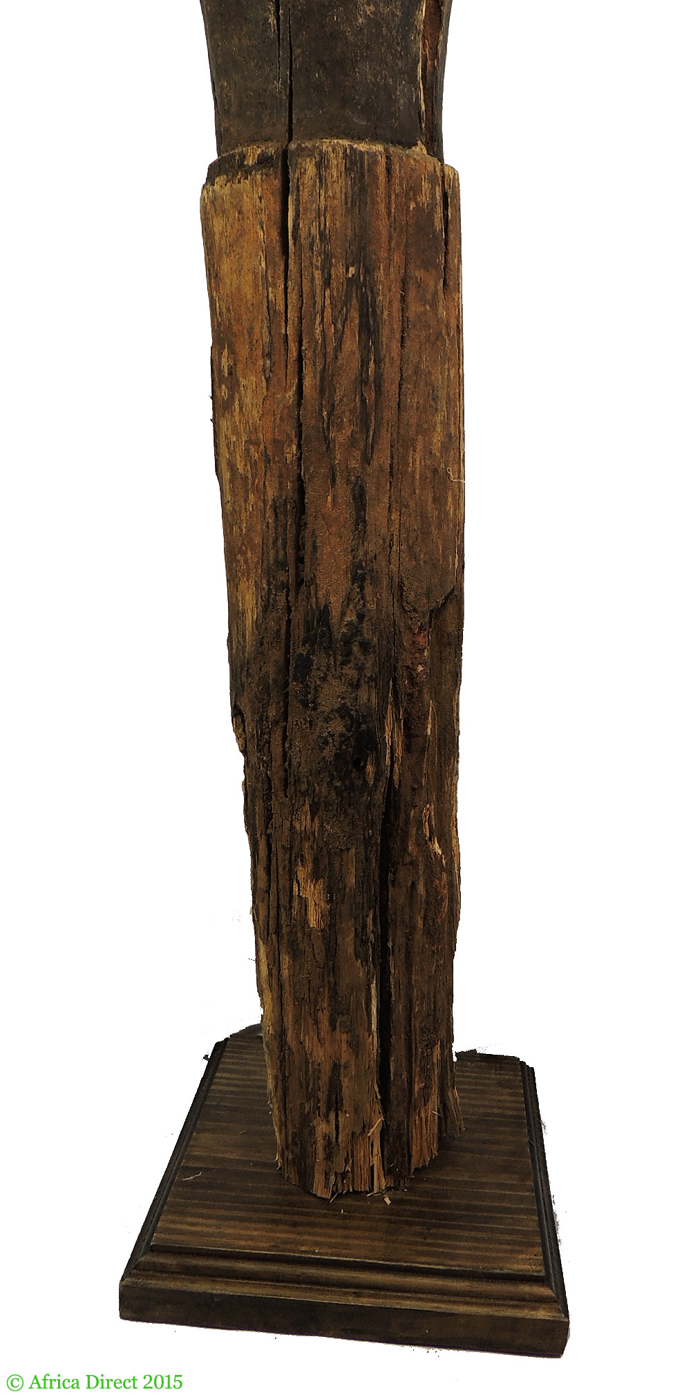 Lengola carved wooden post angola inch african art