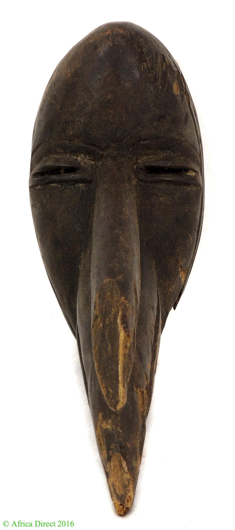 Cross Country Shipping >> Dan Bird Mask with Beak Liberia African Art - Dan, Bassa, Kran, Wee - African Masks