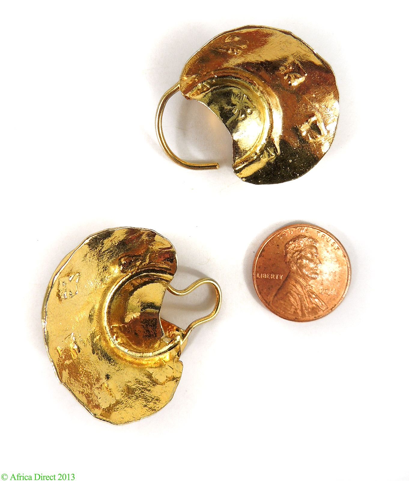 Fulani Earrings: Fulani Earrings Lightweight Gold African