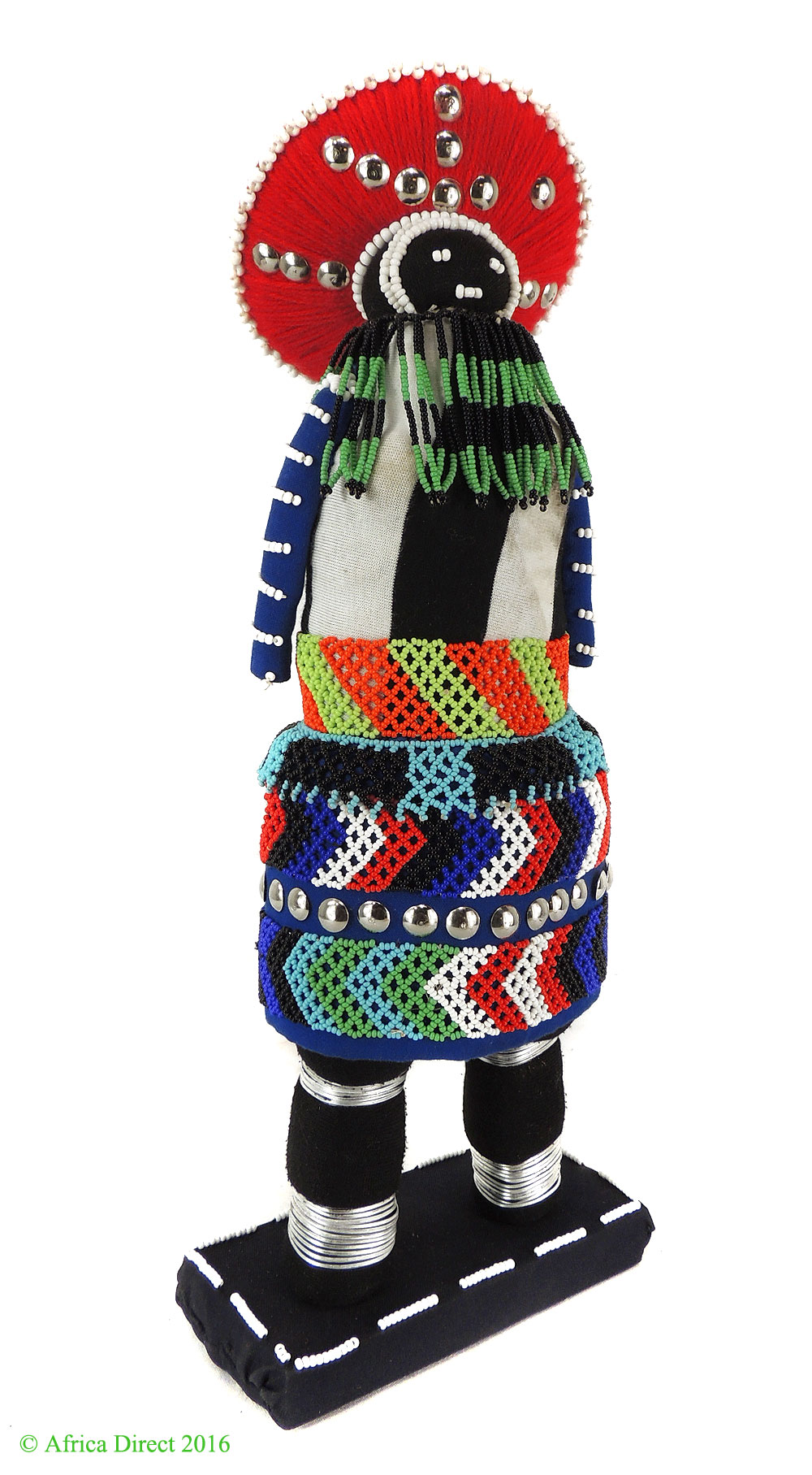 Zulu Beaded Doll Folk Art Old Beadwork