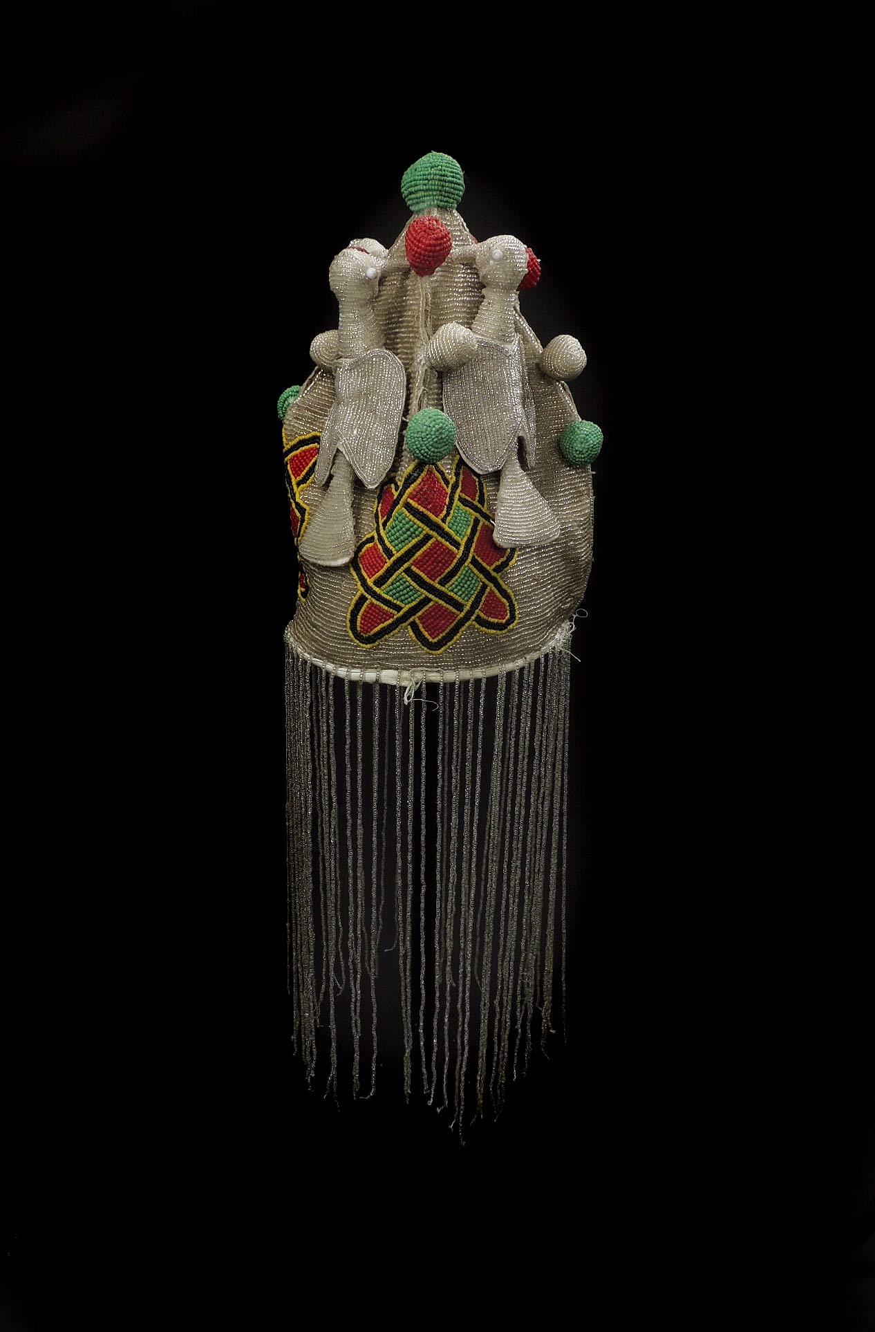 Yoruba Beaded Crown Nigeria African Art - Yoruba - African Beadwork